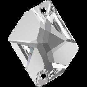 Cristale de Cusut Swarovski, 25x18 mm, Culori: Jet (1 bucata)Cod: 3250 Cristale de Cusut Swarovski, 26x21 mm, Crystal (1 bucata)Cod: 3265