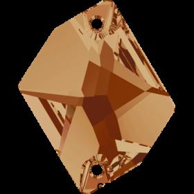 Cristale de Cusut Swarovski, 18x9 mm, Culori: Denim Blue (1 bucata)Cod: 3223 Cristale de Cusut Swarovski, 20x16 mm, Crystal Copper (1 bucata)Cod: 3265
