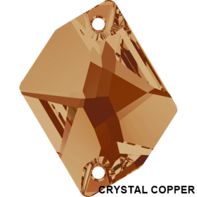 Cristale de Cusut 3500-MM17X9.5 (1 buc/pachet) Crystal Silver Shade Cristale de Cusut Swarovski, 20x16 mm, Crystal Copper (1 bucata)Cod: 3265