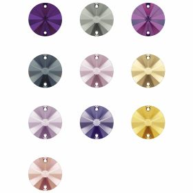Cristale de Lipit, 12.5 mm, Culoare: Light Siam (1 bucata)Cod: 2720 Cristale de Cusut Swarovski, Marime: 14mm, Culoare: Diferite Culori (1 bucata)Cod: 3200