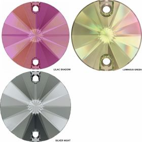 Cristale de Cusut Swarovski, 12.5x13.6 mm, Culoare: Crystal (1 bucata)Cod:  3708 Cristale de Cusut Swarovski, Marime: 14mm, Culoare: Crystal AB (1 bucata)Cod: 3200