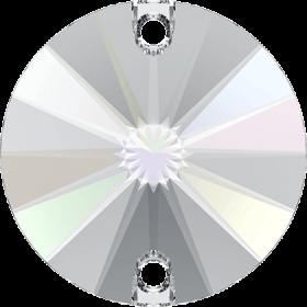 Cristale de Cusut Swarovski, 12.5x13.6 mm, Culoare: Crystal (1 bucata)Cod:  3708 Cristale de Cusut Swarovski, 16mm, Culoare: Crystal AB (1 bucata)Cod: 3200