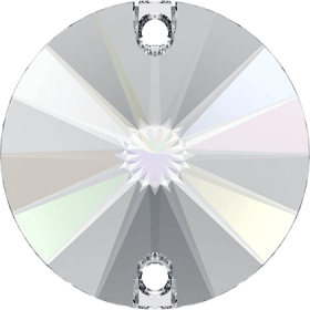 Pandantiv Swarovski, 18 mm, Culoare: Crystal (1 bucata)Cod: 6028 Cristale de Cusut Swarovski, 16mm, Culoare: Crystal AB (1 bucata)Cod: 3200