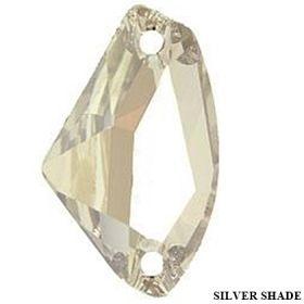 Pandantiv Swarovski, 20 mm, Culoare: Crystal (1 bucata)Cod: 6704-MM20 Cristale de Cusut Swarovski, 19x11.5 mm, Crystal Silver Shade (1 bucata)Cod: 3256