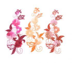 Flori Textile, diametru 60 mm (2 bucati/pachet)Cod: 780161 Aplicatie Brodata cu Flori 3D, lungime 21.5 cm (10 bucati/pachet) Cod: 61027