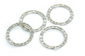 Cristale de Lipit Swarovski, Marimea: 14 mm, Culoare: Crystal (1 bucata)Cod: 2808 Cristale in Montura 137720-PP18 (1 bucata) Crystal