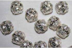 Pandantiv Swarovski, 17 mm, Diferite Culori (1 bucata)Cod: 6240-MM17 Cristale in Montura 147508-PP24 (1 bucata) Crystal