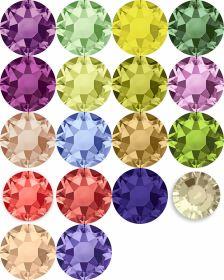 Oferta la 30 Lei + TVA Cristale de Lipit 2028, Marimea: 16 mm, Culoare: Diferite Culori (144 buc/pachet)