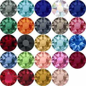 Oferta la 30 Lei + TVA Cristale de Lipit 2078, Marimea: 16 mm, Culoare: Diferite Culori (144 buc/pachet)