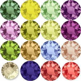 Oferta la 40 Lei + TVA Cristale de Lipit 2028, Marimea: 20 mm, Culoare: Diferite Culori (144 buc/pachet)