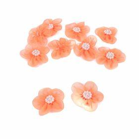 Aplicatii si decoratiuni pentru haine Aplicatii de Cusut, Model Floare, diametru 4 cm(50 buc/pachet)Cod: T10366