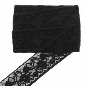 Dantela Brodata, latime 6.5 cm (13.72 metri/rola) Cod: 0575-3339 Dantela Elastica, latime 6.5 cm (10 metri/rola) Cod: 20302