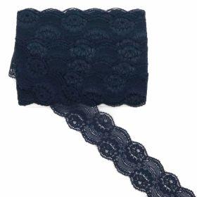 Dantela, latime 5.5 cm (pret/metru) Se vinde la rola ! Cod:WTP938 Dantela Elastica, latime 5.6 cm (10 metri/rola) Cod: 1600-DANTELA