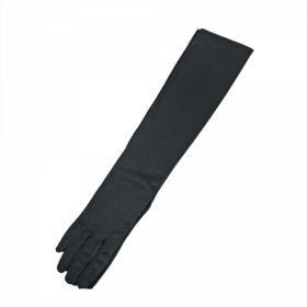 Manusi din Satin, 33 cm (1 pereche/pachet) Manusi Satin Negre, 53 cm (1 pereche/pachet)