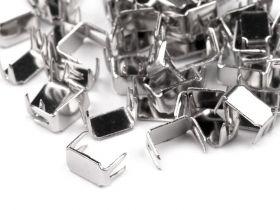 Cursori Metalici pentru Fermoare, spira 3 mm (500 bucati/pachet) Opritor Fermoar, 3 mm (50 grame/pachet)Cod: 730387