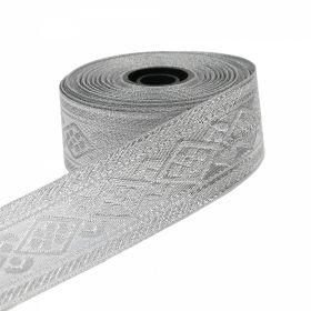 Decorare Pasmanterie, latime 36 mm, Argintie (16.4 m/rola)