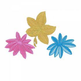 Embleme Termoadezive ( 10 bucati/pachet) Cod: 390678 Embleme Termoadezive, Floare (18 bucati/pachet) Cod: EMBLEME FLORI