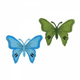 Embleme Termoadezive ( 10 bucati/pachet) Cod: 390678 Embleme Termoadezive, Fluture (2 bucati/pachet) Model 2