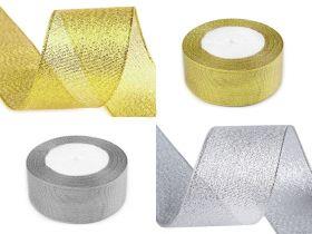 Panglica Decorativa cu Fir Metalic, latime 30 mm (10 m/rola) Cod: ALAMANUS Panglica Decorativa cu Lurex, latime 38 mm (22.5 m/rola) Cod: 420088