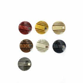 Croitorie Nasturi Plastic cu Picior, 18 mm (50 bucati/pachet)Cod: 9004/28