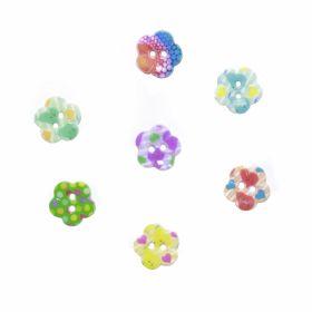 Nasturi Plastic cu Doua Gauri 0312-0111/48 (100 bucati/punga) Culoare: Alb Nasturi cu Doua Gauri TR11/24 (100 buc/punga)