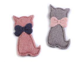 Aplicatii si decoratiuni pentru haine Aplicatii de Cusut, Model Pisica (10 buc/pachet) Cod: 390648