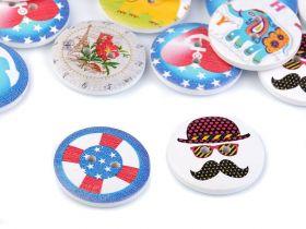 Nasturi Plastic cu Picior, Marime 36 Lin (50 bucati/pachet)Cod: ART8-46 Nasturi Decorativi din Lemn (25 bucati/pachet) Cod: 120488