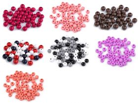 Margele Cubice, Mix Litere, 6 mm (1 punga)Cod: 200733 Margele Lemn, diametru 8 mm (129 buc/punga)Cod: 200896