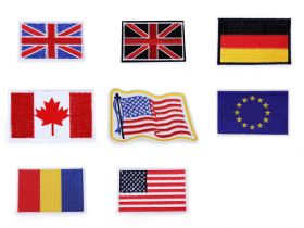 Decorare Embleme Termoadezive, Steag (5 buc/pachet) Cod: 400076