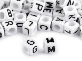 Decorare Margele Cubice, Mix Litere, 6 mm (1 punga)Cod: 200733