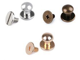 Tinte Metalice, Model Piramida, 7x7 mm (50 bucati/pachet) Cod: 080670 Butoni cu Surub pentru Piele, 7 mm,  (10 seturi/pachet) Cod: 740147
