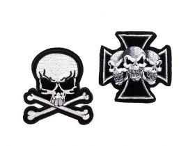 Embleme/Aplicatii Termoadezive (10 buc/pachet) Cod: 400078 Embleme Termoadezive, Death (2 buc/pachet) Cod: 390431