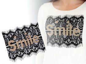 Aplicatii si decoratiuni pentru haine Aplicatie din Dantela, Smile (1 bucati/pachet) Cod: 400122