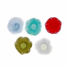 Aplicatii si decoratiuni pentru haine Aplicatii de Cusut, Model Floare, diametru 4.5 cm(18 buc/pachet)Cod: T12070