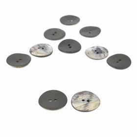 Nasturi cu Picior, din Plastic, 25 mm (50 buc/pachet) Cod: 04-171/48 Nasturi cu 2 Gauri, 27 mm (25 bucati/punga) Cod: 24030