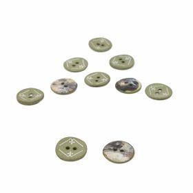Nasturi cu Picior, din Plastic, 25 mm (50 buc/pachet) Cod: 04-171/48 Nasturi cu 2 Gauri, 15 mm (50 bucati/punga) Cod: 11907