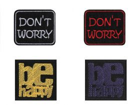 Decorare Embleme Termoadezive, Dont Worry, Be Happy (10 buc/pachet) Cod: 400157