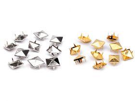 Tinte Metalice, Model Piramida, 12x12 mm (50 bucati/pachet) Cod: 080672