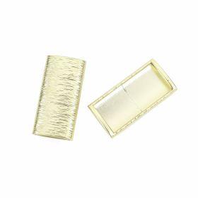 Accesorii metal - Inele si bratari metalice decorative Ornament din Plastic, 51x27 mm, Auriu (10 bucati/pachet)