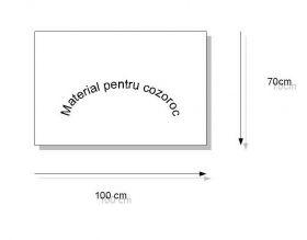 Cozoroc Foaie Material pentru Cozoroc, 2 mm, Alb (70x100 cm)
