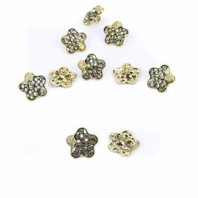 Nasturi Metalici cu Strasuri, Marime 21 mm (10 bucati/pachet)Cod: BT1356