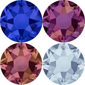 Cristale de Lipit 2038, Marimea: SS34, Culoare: Topaz (144 buc/pachet)  Cristale de Lipit 2038, Marimea: SS16, Culoare: Crystal-AB (144 buc/pachet)