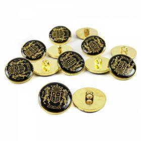 Nasturi Metalici cu Strasuri, Marime 35 mm (10 bucati/pachet)Cod: BT0723 Nasturi Plastic cu Picior, Marime 24L (100 bucati/pachet)Cod: X070/24