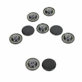 Nasturi din Plastic Nasturi cu 2 Gauri, 15 mm (100 bucati/punga) Cod: 07-172