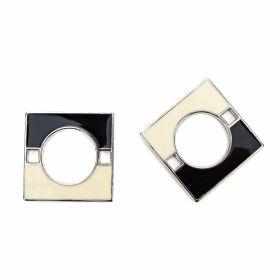 Accesorii metal - Inele si bratari metalice decorative Ornament din Plastic, 40 mm (10 bucati/pachet)Cod: C50