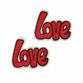 Embleme Adezive, Termoadezive, Decorative Embleme Termoadezive, LOVE (12 buc/pachet) Cod: EMB01