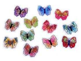 Embleme Adezive, Termoadezive, Decorative Embleme Termoadezive, Fluture (12 buc/pachet) Cod: 400075