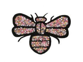 Aplicatii si decoratiuni pentru haine Aplicatie termoadeziva- albina cu strasuri (10 bucati/pachet) Cod: 390996