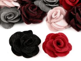 Aplicatii si decoratiuni pentru haine Trandafiri decor, Ø50 mm (5 bucati/pachet) Cod: 400044