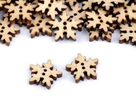 Nasturi pentru Copii, Brad (20 bucati/pachet)Cod: 120604 Nasturi Decorativi din Lemn, model Fulg (50 bucati/pachet) Cod: 120347